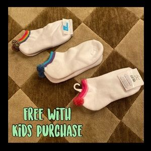 FREE SOCKS with purchase of any kids item